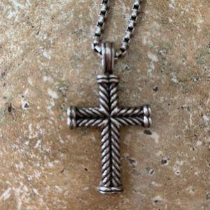 David Yurman cross necklace